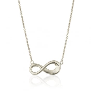 Silver necklace with infinity sign