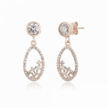 Ingenious Rose gold pear shaped earrings