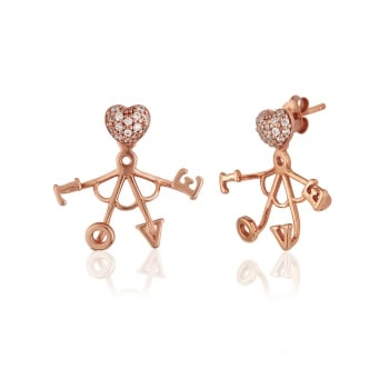 Ingenious Rose gold ear cuff with love
