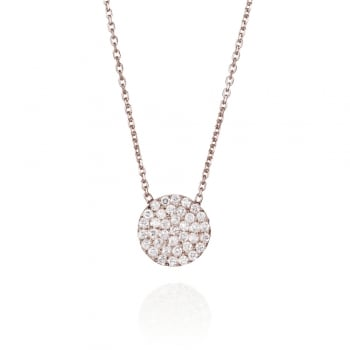 Ingenious Silver necklace with pave circle