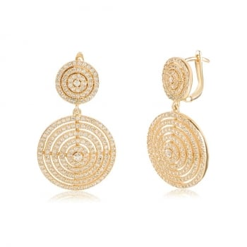 Ingenious gold multi circle drop earrings