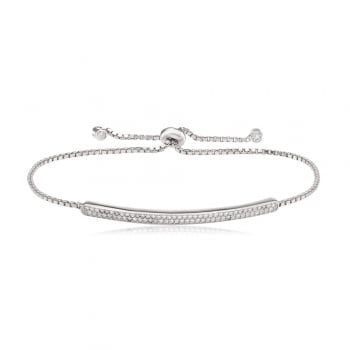Ingenious Siver adjustable bar bracelet