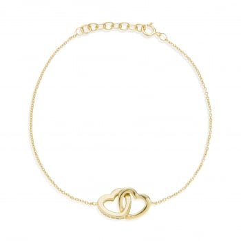 Ingenious Gold bracelet with interlocking hearts
