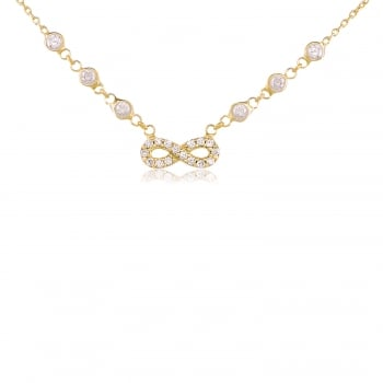 Ingenious Gold necklace with pave infinity