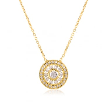 gold necklace with antique circle
