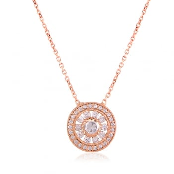 Ingenious rose gold necklace with antique circle