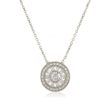 Ingenious silver necklace with antique circle