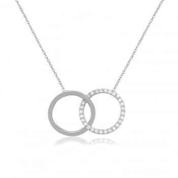 Ingenious silver necklace with interlinking circles