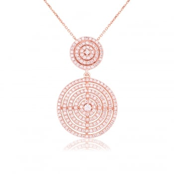 Ingenious rose gold multi circle necklace