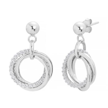 Ingenious silver earrings with interlinked circles