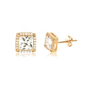 Ingenious gold square stud earring