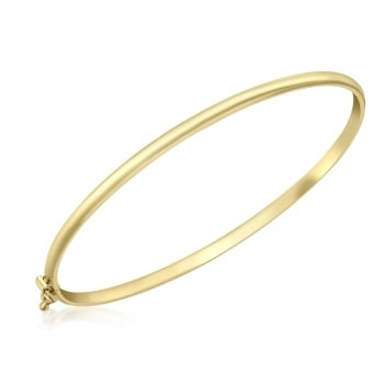 Jewel & Gem 9ct Yellow Gold Narrow Tube Bangle