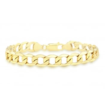 Jewel & Gem 9ct Yellow Gold Hollow Curb Bracelet 19cm/7.5""