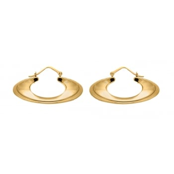 Jewel & Gem 9ct Yellow Gold Crystalique Oval Creole Earrings