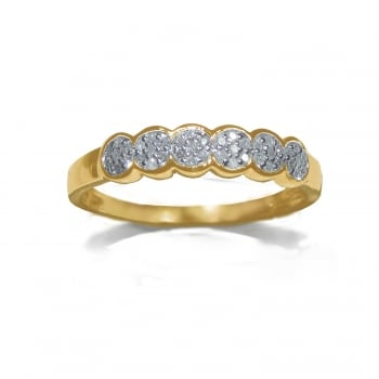 Adara 9ct Illusion Set 0.10 Carat Diamond Eternity Ring