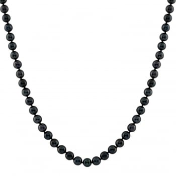 Bella Pearls 14ct white gold 5-5.5mm black chinese akoya pearl necklace