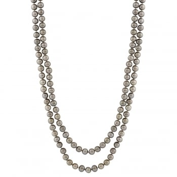 5.5-6mm grey freshwater pearl endless necklace