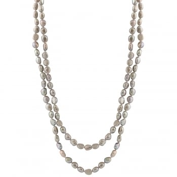 Bella Pearls 7-8mm white freshwater pearl endless necklace