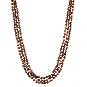 Bella Pearls 5-6mm brown endless freshwater pearl necklace