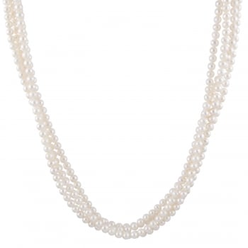 5-6mm white freshwater pearl endless necklace