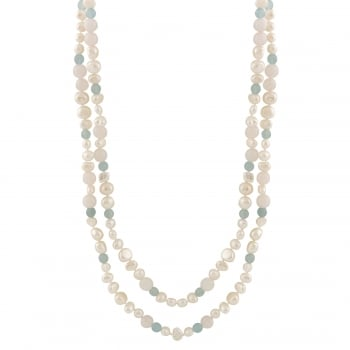 Bella Pearls 6-8mm multicolor freshwater pearl necklace