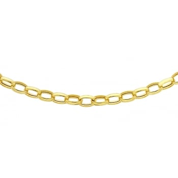 Jewel & Gem 9 ct Yellow Gold Oval Belcher Chain of Length 46 cm