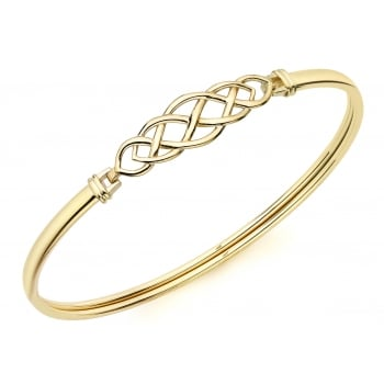 Jewel & Gem 9ct Yellow Gold Celtic Bangle