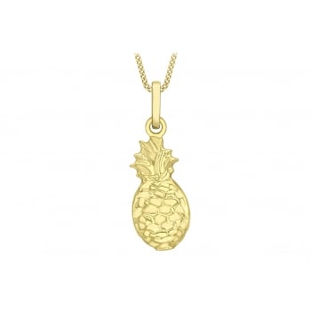 Jewel & Gem 9ct Yellow Gold Pineapple Pendant Necklace of 45.72cm