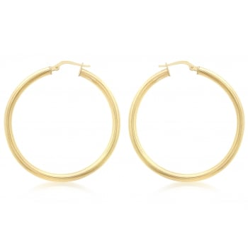 Jewel & Gem 9ct Yellow Gold 35mm Creole Earrings
