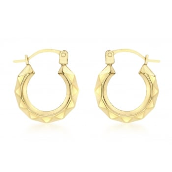 Jewel & Gem 9ct Yellow Gold Creole Earrings