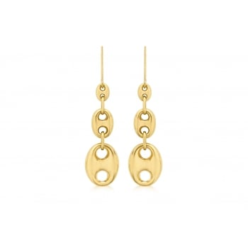 Jewel & Gem 9 ct Yellow Gold Graduated Style Drop Earrings