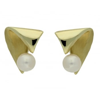 Jewel & Gem 9ct yellow gold cultured pearl studs