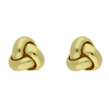 Jewel & Gem 9ct yellow gold knot studs