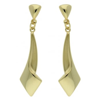 Jewel & Gem 9ct yellow gold drop earrings