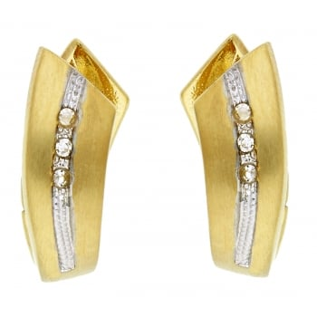 Jewel & Gem 9ct yellow gold 0.05ct diamond creoles