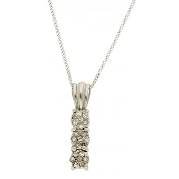 Jewel & Gem 9ct white gold 0.15ct diamond pendant and 46cm curb chain