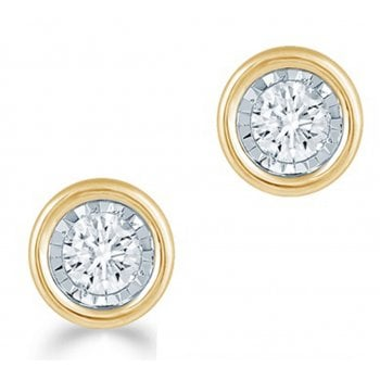 Adara 9ct 0.25ct Diamond illusion set Solitaire Studs