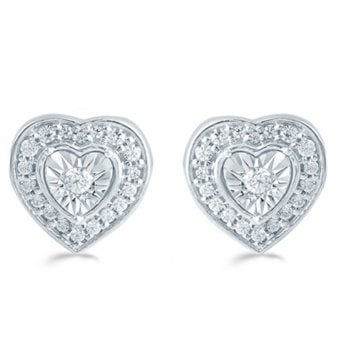 Adara 9ct 0.25ct Diamond illusion set studs