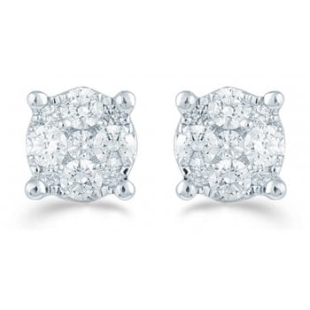 Adara 9ct 0.16ct Diamond illusion set studs
