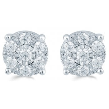 Adara 9ct 0.50ct Diamond illusion set studs