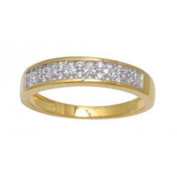 Adara 9ct yg 0.15ct diamond eternity ring