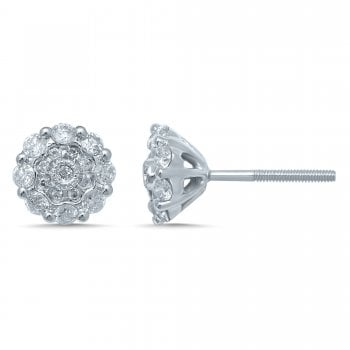 Adara 9ct yg 0.50ct diamond earrings