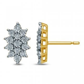 Adara 9ct yg 0.10ct diamond earrings