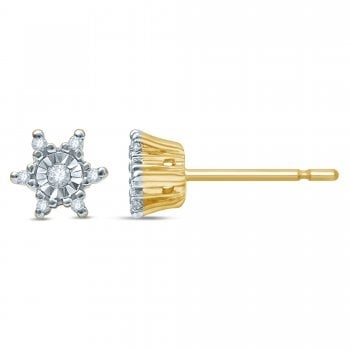 Adara 9ct yg 0.08ct diamond earrings