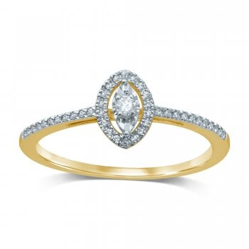 Adara 9ct yg 0.10ct diamond ring