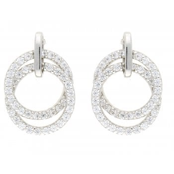 Ingenious Silver cubic zirconia earrings