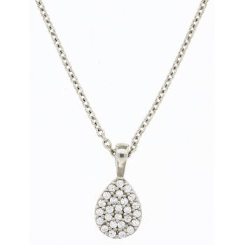 Ingenious Silver cubic zirconia necklace