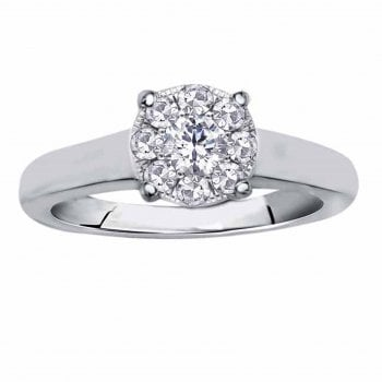 Perfect Love Silver perfect love 0.25ct diamond ring with a look of 0.75ct