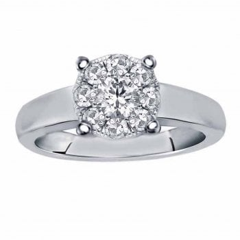 Perfect Love Silver perfect love 0.33ct diamond ring with a look of 1.00ct