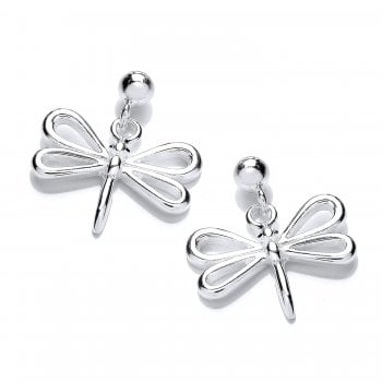 Jodie Rose Sterling Silver Dragonfly Earrings